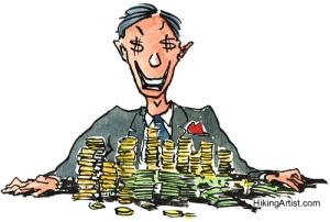 Greedy Man Illustration