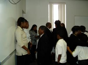 Drayton/Wade Family Members At Lucille Wade-Drayon's Funeral