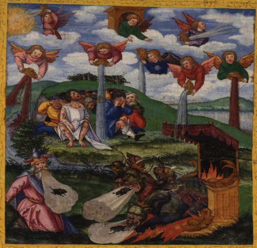 The Giving of the Seven Bowls of Wrath;The First Six Plagues,Matthias Gerung (1500–1570)