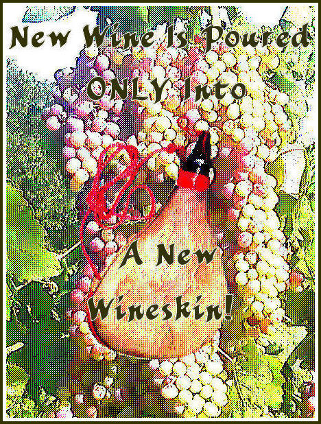 Holy Spirit's Wine ONLY is poured into new wineskins!