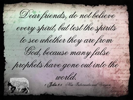 false preacher 1 John 4  1__