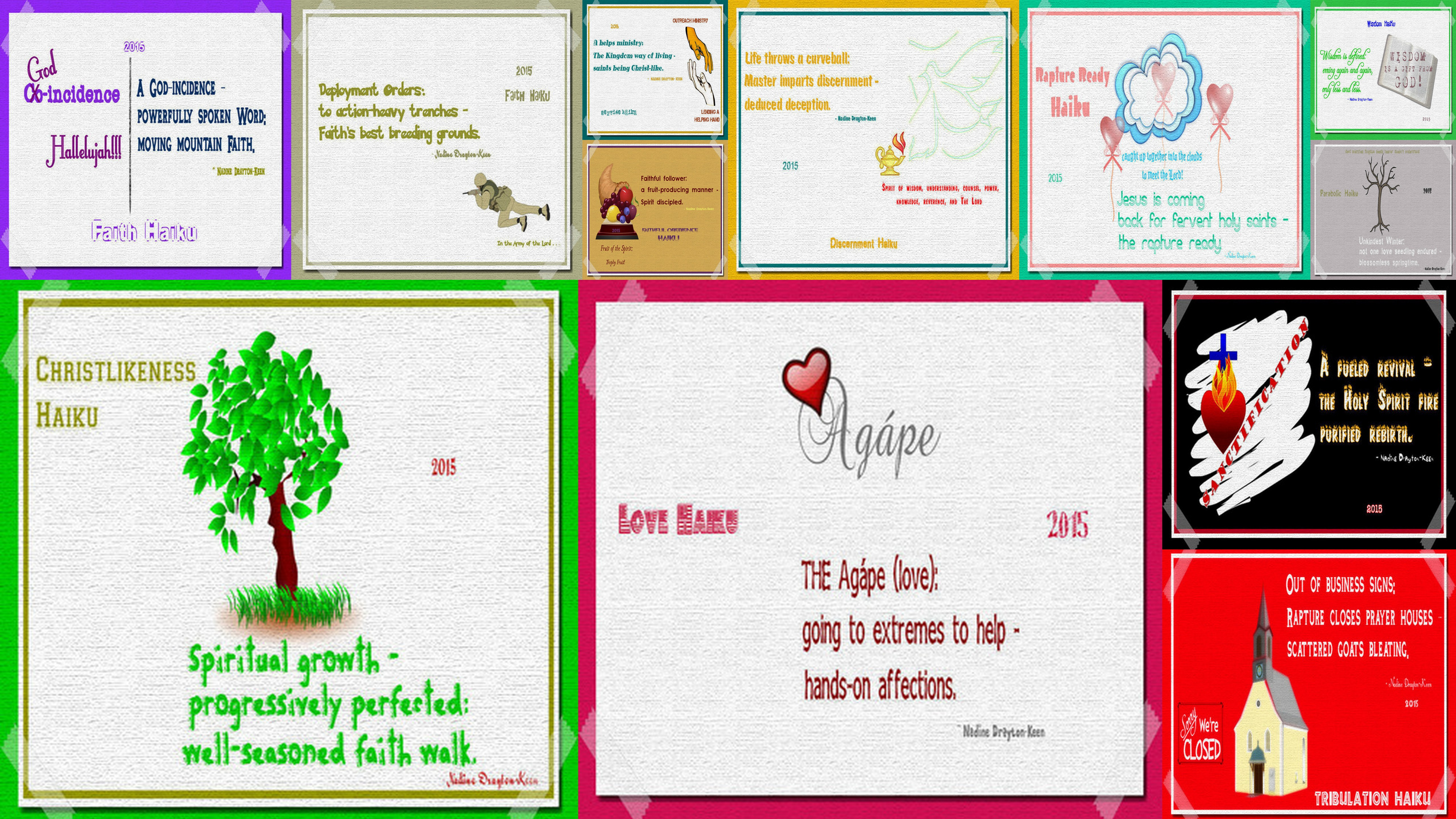 Illustrated Haikus Collage