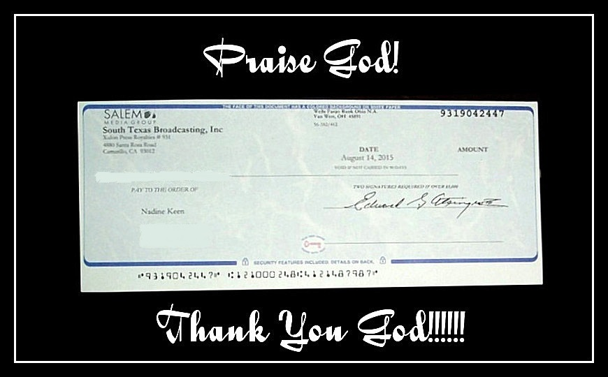 My First Royalty Check
