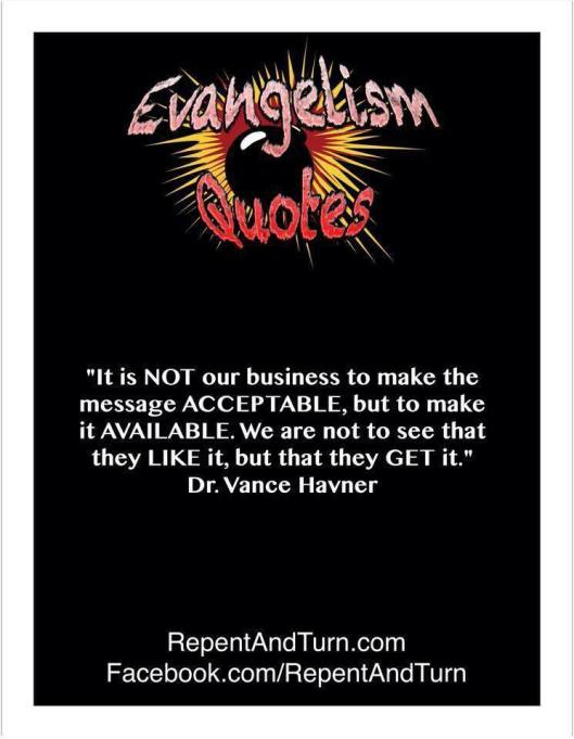An Evangelism Quote