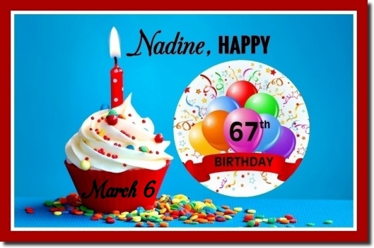 Happy 67th Birthday, Nadine